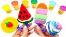 Как сделать из пластилина Плей До мороженое. Лепим с детьми.