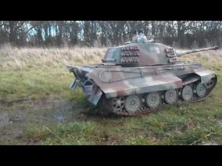 WWII King Tiger RC Tank 1/6 scale on local manoeuvres # 3