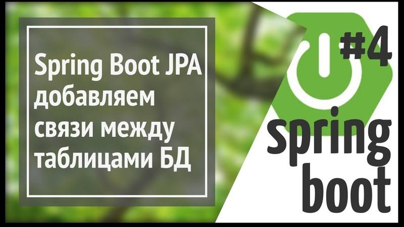 Spring Boot Jpa (Hibernate): добавляем связи между таблицами базы данных (one to many)