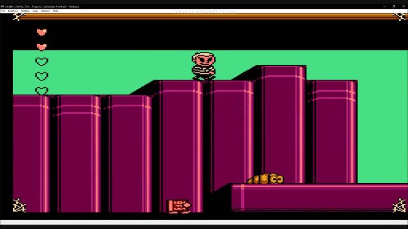 Addams family pugsley's scavenger hunt (NES)