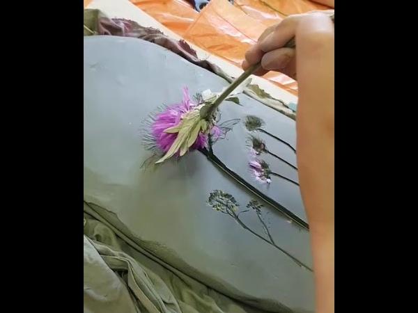 Ботанический барельеф в студии Alter Ego