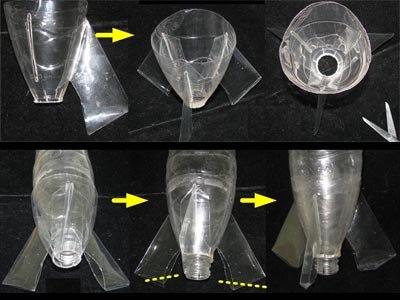 Как сделать из пластиковой бутылки ракету