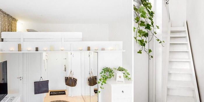 Светлая квартира с высокими потолками