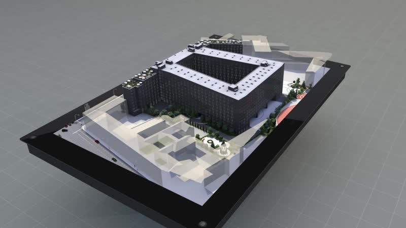 Голографический макет апарт отель YE'S в самом сердце Санкт Петербурга