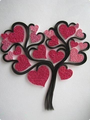«Сердечное» дерево в технике квиллинг