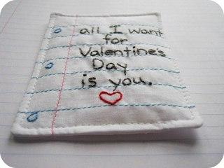 одарок в День Святого Валентина!  Проба пера.