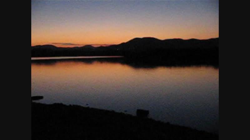 Закат на озере Бугаз