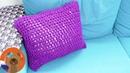 Вязем наволочки для диванных подушек крючком Декор своими руками DIY идея