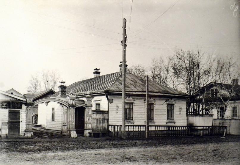 Дом в Вятке на Вознесенской улице, в котором М. Е. Салтыков проживал во время ссылки.Начало XX в.