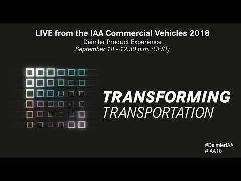 Daimler Product Experience - LIVE from the IAA Commercial Vehicles 2018