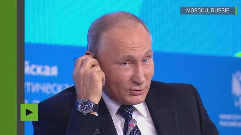 Vladimir Poutine et la blague du jour