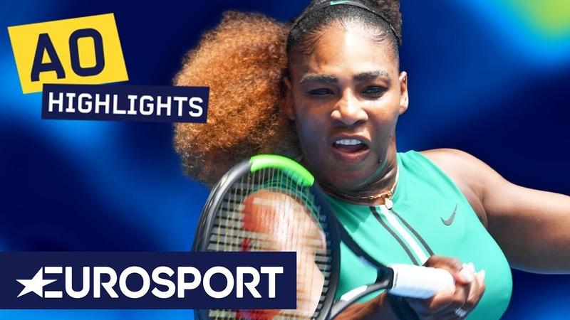 Serena Williams vs Tatjana Maria Highlights | Australian Open 2019 Round 1 | Eurosport