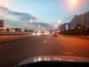Ночная питерская набережная Охтинский мост