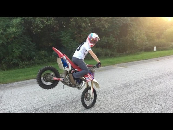 CRAZY CR85 Rippin and Wheelies ft. Andrew Haselhuhn