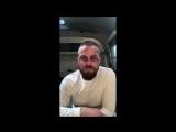 [Инстаграм-лайв] Стивен Амелл в перерыве между съемок 7х04