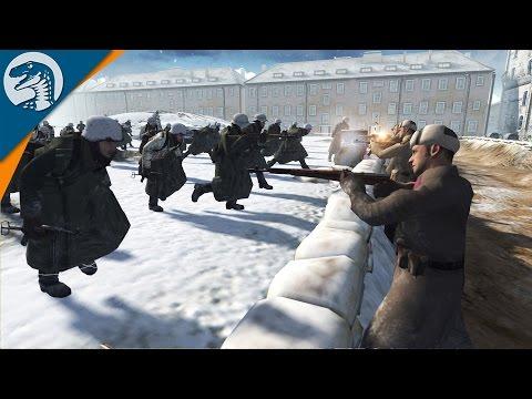 CRAZY FASCIST CHARGE AT STALINGRAD | COD MOD | Men of War: Assault Squad 2 [MOD] Gameplay