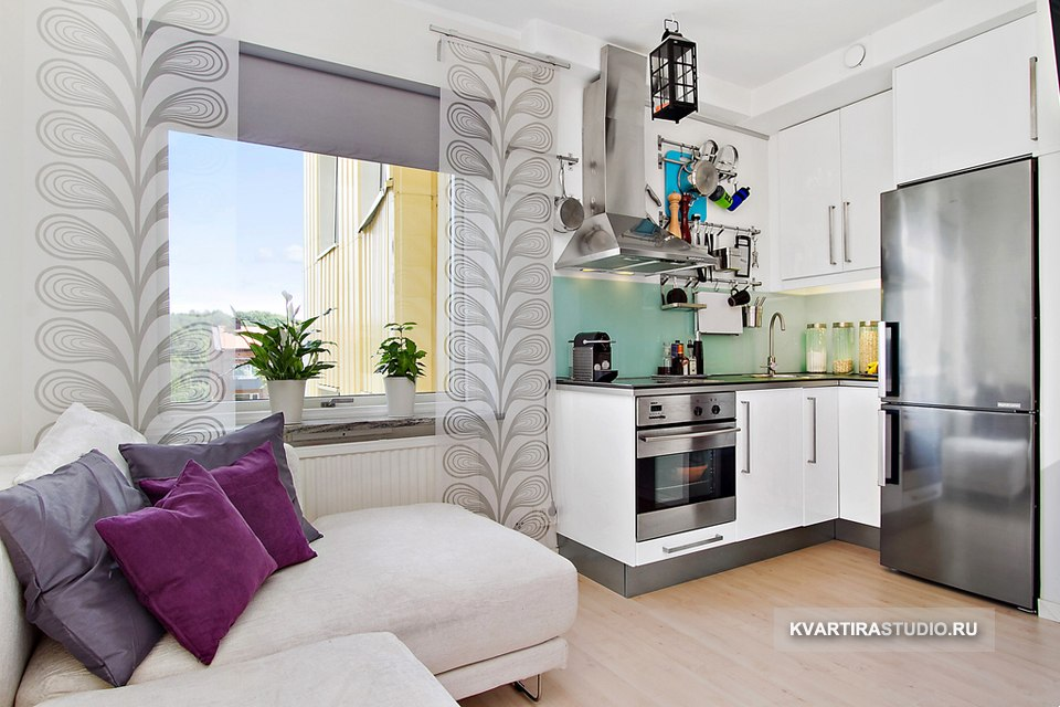 Квартира 17 м с кроватью-гардеробом и мобильной раковиной - http://kvartirastudio.