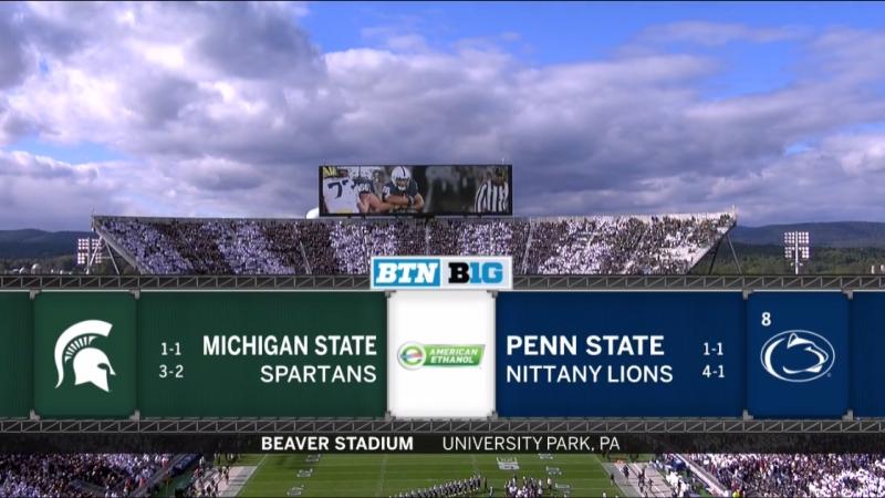 NCAAF 2018 Week 07 Michigan State Spartans 8 Penn State Nittany Lions 2Н EN
