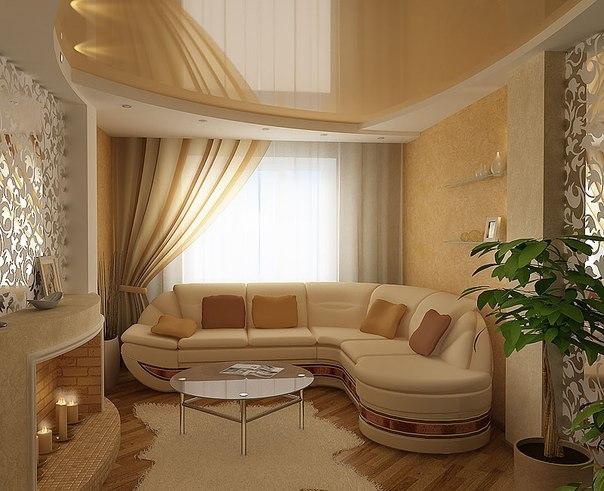 фото диван в интерьере гостиной