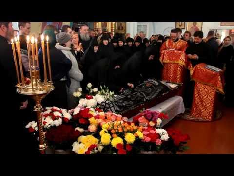 Отпевание и похороны схиигумена Виктора