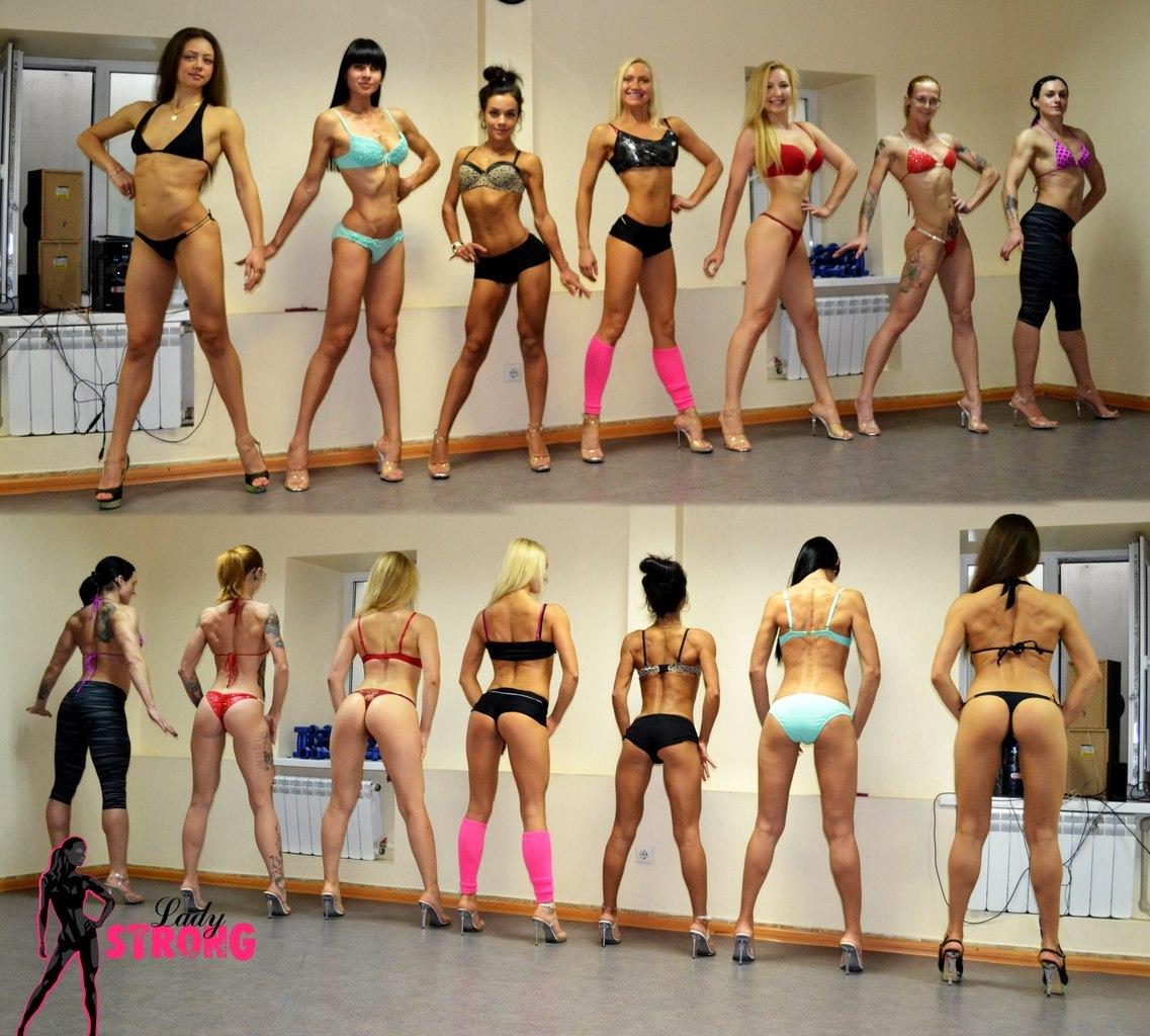 позирование фитнес бикини