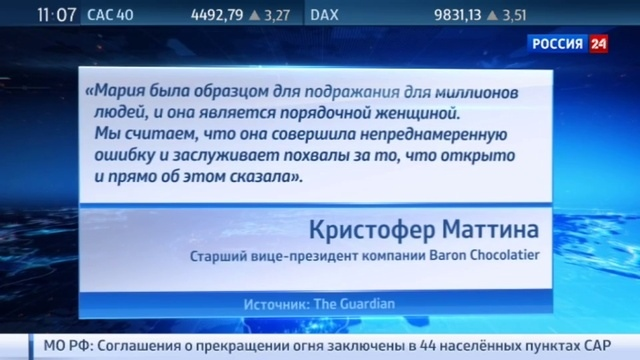 Новости на Россия 24 Подсластить пилюлю для Маши для Шараповой выпустят шо