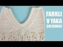 Farklı V Yaka Anlatımı Kazaklarınızda Bluzlarınızda uygulaya bilirsiniz