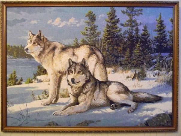"""Вышивка """"Волчье время"""": размер"""