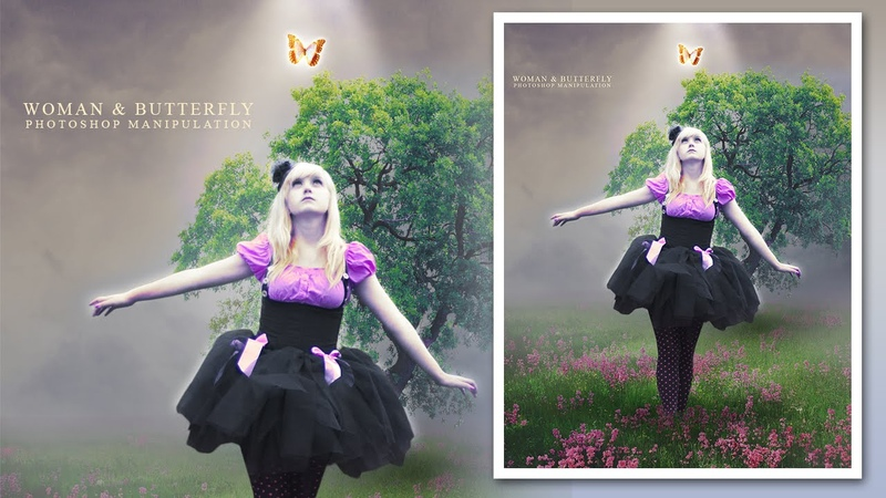 Photoshop Photo Manipulation Tutorial Woman and Butterfly