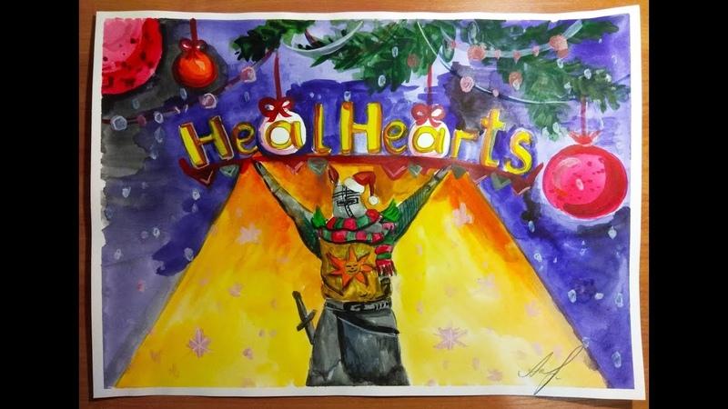 Подписчица сделала новогодний подарок, нарисовав крутой арт! Солер из Асторы на Новый Год
