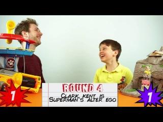 Kid -VS- Adult - 'The Whisper Challenge' - Superhero Film Edition