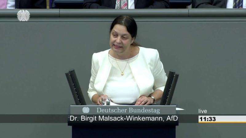 Dr. Birgit Malsack-Winkemann (AfD) über ,,eingeschleppte Krankheiten ► Rede im Bundestag