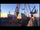 Reed &amp Reed Crane Services - Bath Iron Works 900-ton Deckhouse Mega Lift