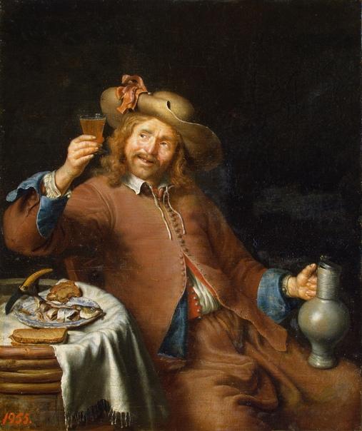 Картина «Завтрак молодого человека», XVII век.