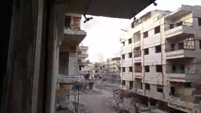 Harasta after liberation by SAA