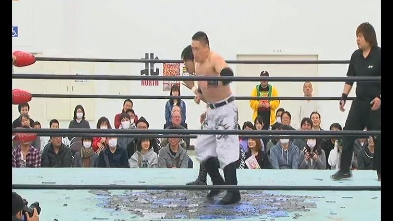 Kazuki Hashimoto, Kankuro Hoshino vs. Tatsuhiko Yoshino, Kota Sekifuda (BJW - Ikkitousen Strong Climb 2018 - Day 1)