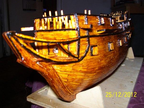 Процесс постройке фрегата из