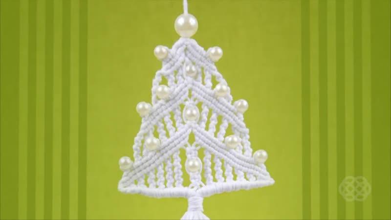 How to Christmas Tree _ Macrame Xmas Ornament _ Decoration