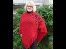 How to crochet poncho shawl free pattern