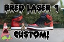 Air Jordan Bred Laser 1 Custom Time Lapse