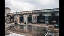 В Киеве вспыхнул ангар с автомобилями едкий и черный дым затянул все вокруг
