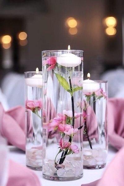 Плавающие свечи в декоре