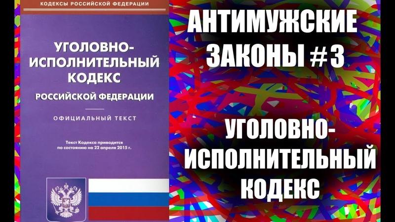 18 АНТИМУЖСКИХ СТАТЕЙ Уголовно-исполнительного кодекса РФ