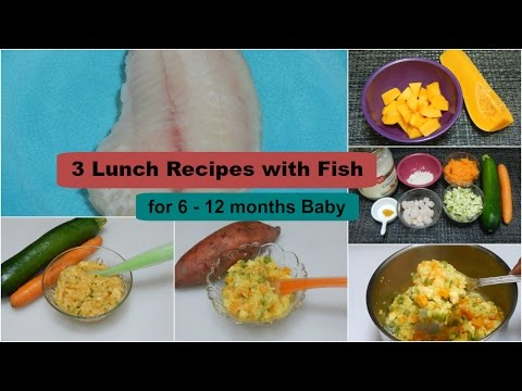 3 EASY HEALTHY LUNCHDINNER IDEAS! Recipes with Fish for 6 - 12 months Baby l Fish Baby Food