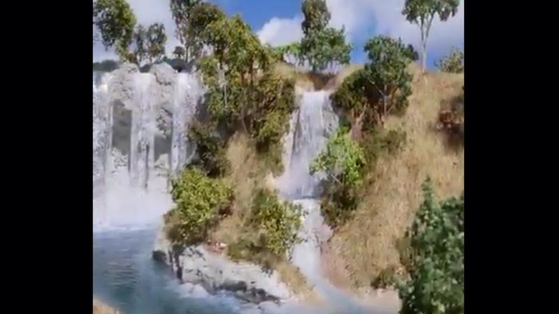 Menakjubkan - Air Terjun 3D ini dibuat dari styrofoam