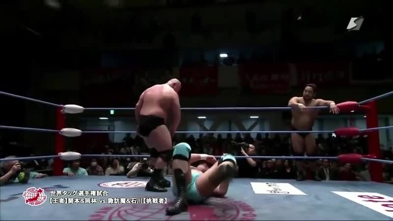 Strong BJ (Daisuke Sekimoto Yuji Okabayashi) (c) vs. Violent Giants (Shuji Ishikawa Suwama)