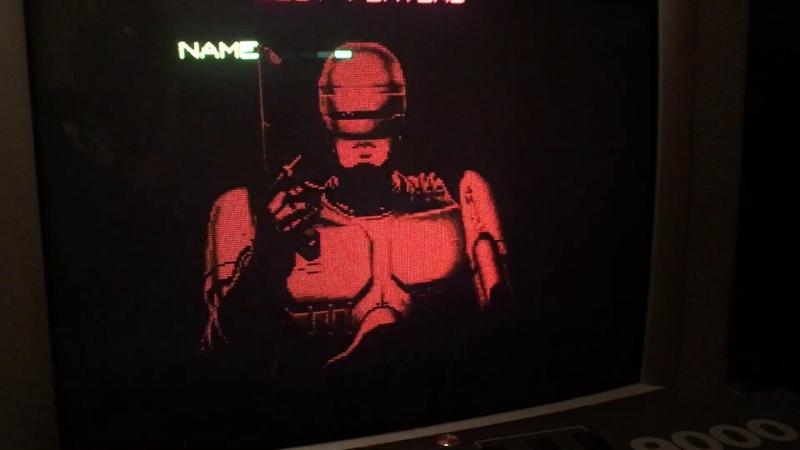 Robocop Data east 1987 mame 15khz Extron Super Emotia 2 vs Pcb rgb