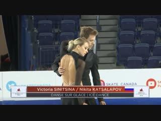 Victoria SINITSINA / Nikita KATSALAPOV. 2018 Skate Canada - Practices