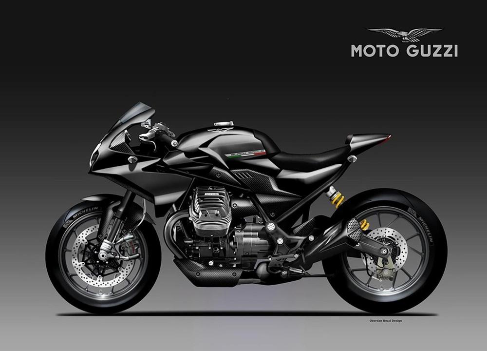 Обэрден Бецци: концепт Moto Guzzi V85 Black Eagle