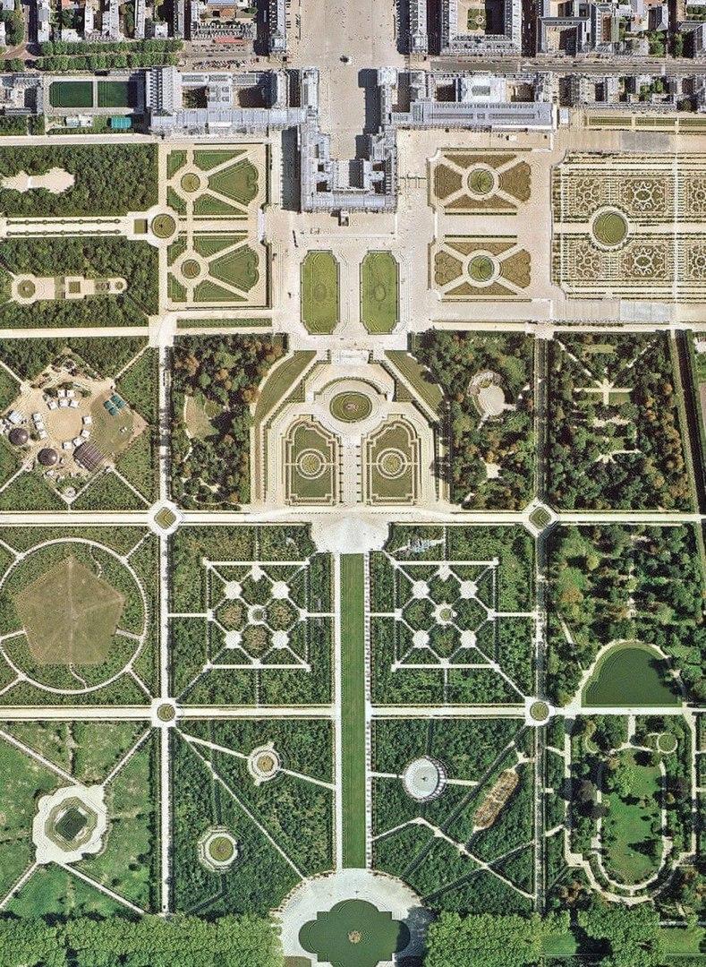 Версальский дворец, вид сверху